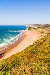 View of the beach, Sopelana, Basque Country, Spain. July 2015.  -  Merryn Thomas