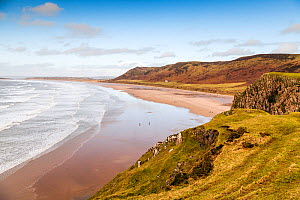 Rhossili Bay, Gower Peninsula, Wales, UK. January 2016.  -  Merryn Thomas