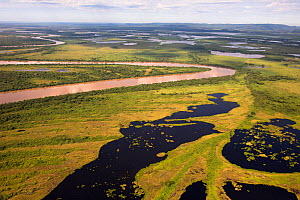 Aerial view of the Pantanal, at the end of the dry season, near the Paraguay River, Brazil. November 2016. Photographed for The Freshwater Project  -  Michel  Roggo