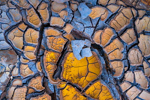 Dried up mud in the Rio Tinto - Red River, Sierra Morena, Gulf of Cádiz, Andalucia, Spain. January 2017. - Juan  Carlos Munoz