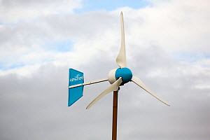 Kestrel wind turbine in Scoraig,  North West Scotland, UK. This whole community is off grid, powered by renewable energy. October 2013 - Ashley Cooper