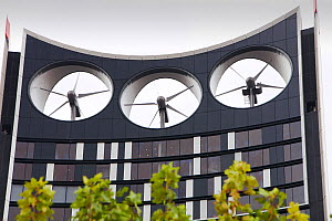 The Strata building at the Elephant and Castle in London,  the first building in the world where wind turbines have been integrated into the fabric of the building.  It has three 15 megawatt turbines... - Ashley Cooper