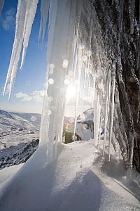 Ice fall on Red Screes in the Lake District, during a very cold snap in Novembver 2010  -  Ashley Cooper