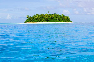 Island in Funafuti Atoll, Tuvalu.  March 2013.  This area is low lying and very susceptible to sea level rise. - Ashley Cooper