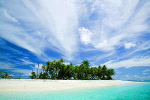 Tepuka Island, Funafuti atoll, Tuvalu.  This area is extremely low lying  and vulnerable to climate change. - Ashley Cooper