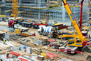 Expansion work at Oslo Airport, Norway. July 2013  -  Ashley Cooper