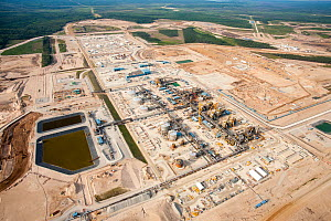 A brand new Tar sands plant being constructed north of Fort McMurray, Alberta, Canada. August 2012 - Ashley Cooper