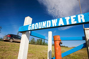 Groundwater testing point north of Fort McMurray, the centre of the Alberta tar sands industry. Alberta, Canada. August 2012 - Ashley Cooper