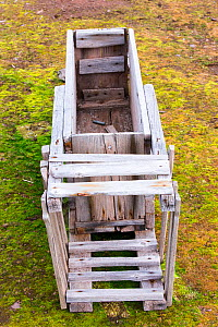 Old  Polar Bear trap at Texas Bar in Liefdefjorden on northern Spitzebergen, Svalbard, Norway. The trap would be baited with the bait attached to a string that ran to a rifle trigger, when the bear pu...  -  Ashley Cooper