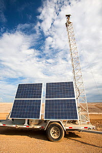 The irony of solar powered CCTV  at Shell's Albian sands tar sands mine. The tar sands are the largest industrial project on the planet, and the world's most environmentally destructive. The synthetic... - Ashley Cooper
