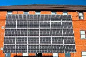 Tracking solar voltaic panels outside the University of Central Lancashire, Preston, UK. February 2013 - Ashley Cooper