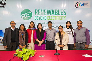 The launch of a renewable energy strategy report at the offices of WWF India in Delhi, India. December 2013  -  Ashley Cooper
