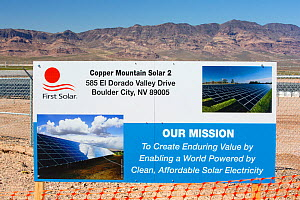 Copper Mountain Solar 2 project, a 150-megawatt (MW)  solar power plant that produces enough energy to power 45, 000 homes, in Nevada, USA. September 2014 - Ashley Cooper
