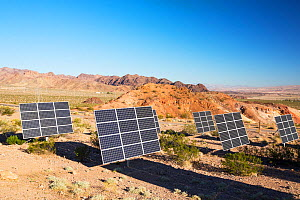 Solar panels next to a church near Lake Mead, Nevada, USA. September 2014 - Ashley Cooper