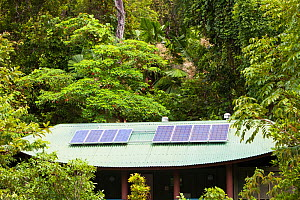Toilet block with solar panels on the roof in the Daintree rainforest, North of Queensland, Australia, February 2010 - Ashley Cooper