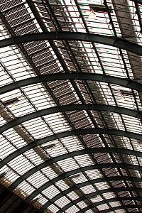 Solar panels on the roof of Kings Cross Station, London, UK. May 2012 - Ashley Cooper