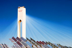 The PS20 solar thermal tower, the only such working solar tower currently in the world. Sanlucar La Mayor, Andalucia, Spain. May 2011 - Ashley Cooper