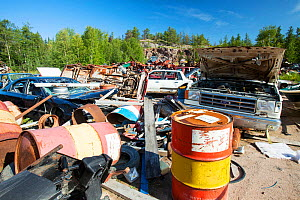 A scrap metal dump in Fort Chipewyan, Alberta, Canada. August 2012  -  Ashley Cooper
