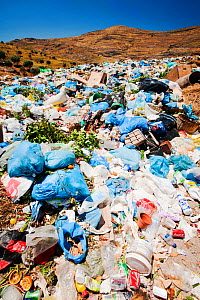 Landfill site in Eresos, Lesbos, Greece. June 2011  -  Ashley Cooper