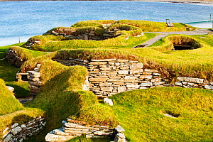 Skara Brae on Orkney, Scotland. October 2011. This ancient village dates from around 3200 BC making it the oldest village in Europe. It was revealed by a great storm in 1850. It consists of eight hous... - Ashley Cooper