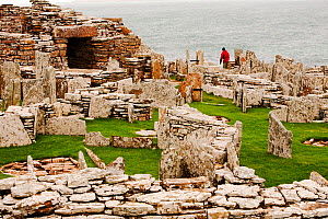 The Broch of Gurness,  the best preserved Broch in Orkney, on mainland island. This defensive building was thought to have been constructed between 100 and 200 BC.  . - Ashley Cooper