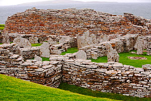 The Broch of Gurness,  the best preserved Broch in Orkney, on mainland island. This defensive building was thought to have been constructed between 100 and 200 BC. - Ashley Cooper