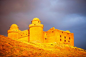 La Calahorra Castle in La Calahorra at the foot of the Sierra Nevada mountains in Andalucia, Spain,  -  Ashley Cooper