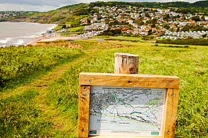 Landslip on the South West Coast Path at Charmouth. This section of the Jurassic Coast has always been prone to landslips due to the unstable nature of the Jurassic clays and shales, but increased hea...  -  Ashley Cooper