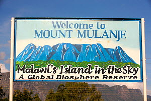 Sign for Mount Mulanje in Malawi, March 2015. - Ashley Cooper