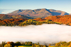 Temperature inversion created clouds in Ambleside in the Lake District, UK, October 2004. - Ashley Cooper