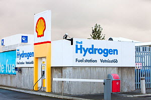 Hydrogen filling station on the outskirts of Reykavik, Iceland. The filling station is owned by Shell and is part of a project to help Iceland move from away from imported oil, to powering its vehicle... - Ashley Cooper