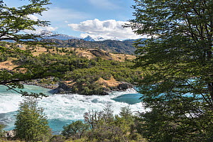 Baker River and mountain landscape, Patagonia, Chile, January 2017. - Rhonda Klevansky