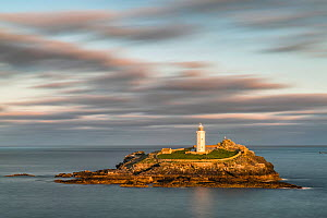 Godrevy Lighthouse, St Ives, Cornwall, England, UK. September 2015. - Guy Edwardes