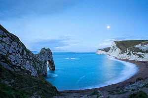 Durdle Door by moonlight, Jurassic Coast, Dorset, England, UK. December 2014. - Guy Edwardes