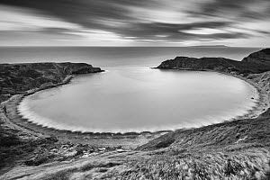 Lulworth Cove on the Jurassic Coast, Dorset, England, UK. December 2014. - Guy Edwardes