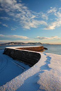 The Cobb, Lyme Regis, Jurassic Coast, Dorset, England, UK. December 2010.  -  Guy Edwardes