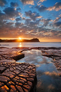 Clavell Tower, Kimmeridge Bay, Jurrasic Coast, Isle of Purbeck, Dorset, England, UK. November2011.  -  Guy Edwardes