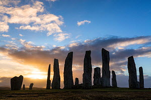 Callanish Standing Stones, Isle of Lewis, Outer Hebrides, Scotland, UK. March 2015. - Guy Edwardes