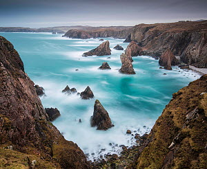 Sea Stacks at Mangurstadh, Aird Feinis, Isle of Lewis, Outer Hebrides, Scotland, UK. March 2015. - Guy Edwardes