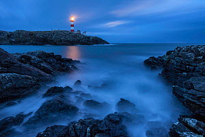 Eilean Glas Lighthouse, Isle of Scalpay, Outer Hebrides, Scotland, UK. March 2015. - Guy Edwardes