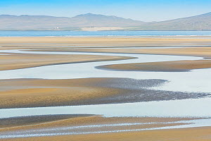 Estuary in Luskentyre, Isle of Harris, Outer Hebrides, Scotland, UK. March 2014. - Guy Edwardes