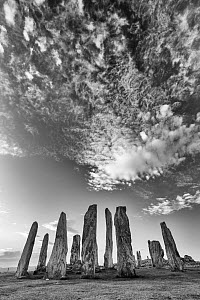 Callanish Standing Stones, Isle of Lewis, Outer Hebrides, Scotland, UK. March 2014. - Guy Edwardes
