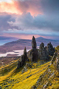 Old Man of Storr, Trotternish Peninsula, Isle of Skye, Inner Hebrides, Scotland, UK. January 2014. - Guy Edwardes