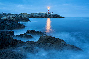 Eilean Glas Lighthouse, Scalpay, Isle of Harris, Outer Hebrides, Scotland, UK. March 2014. - Guy Edwardes