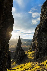 The Needle, Quiraing, Trotternish Peninsula, Isle of Skye, Inner Hebrides, Scotland, UK. January 2014. - Guy Edwardes