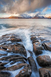 Elgol and the Black Cuillin, Isle of Skye, Inner Hebrides, Scotland, UK. January 2015.  -  Guy Edwardes
