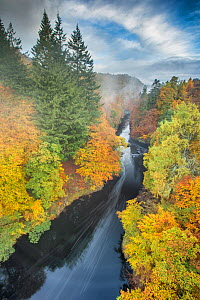 River Garry, Pass of Killiecrankie, Pitlochry, Perthshire, Scotland, UK. October, 2013.  -  Guy Edwardes