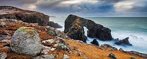 Natural Arch, Siabost, Isle of Lewis, Outer Hebrides, Scotland, UK. March, 2015.  -  Guy Edwardes