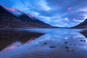 Loch Etive, late evening reflections, sea loch in Argyll and Bute, Scotland, UK. March 2017. - Ross Hoddinott