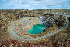 Slate quarry, Delabole, Cornwall, England, UK. March, 2018. - Adrian Davies